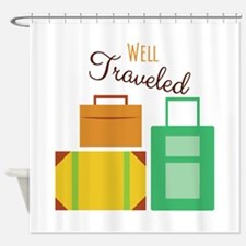 Well Traveled Shower Curtain
