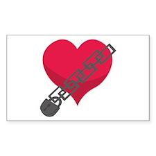 Locked Heart Decal