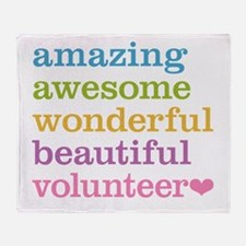 Awesome Volunteer Throw Blanket