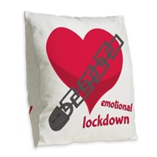 Emotional Lockdown Burlap Throw Pillow