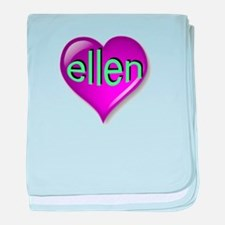 Love ellen Purple Heart baby blanket