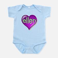 Love ellen Purple Heart Infant Bodysuit