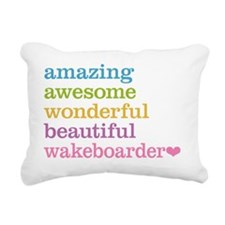 Wakeboarder Rectangular Canvas Pillow