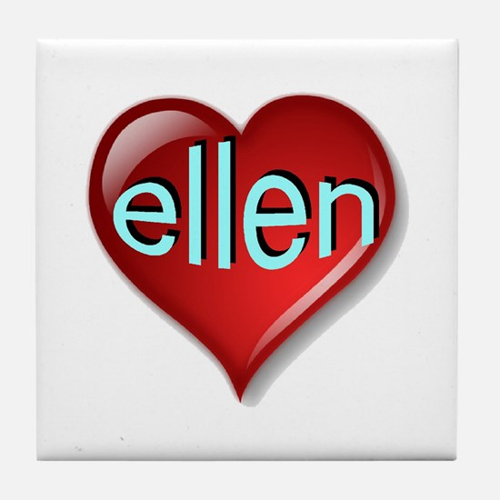 Classic ellen Heart Tile Coaster