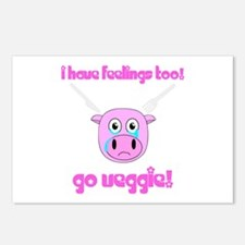 Go Veggie Pig Postcards (Package of 8)