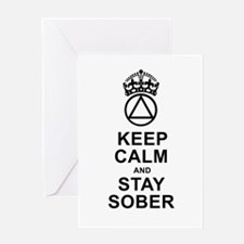 Calm And Sober Single Card Greeting Cards