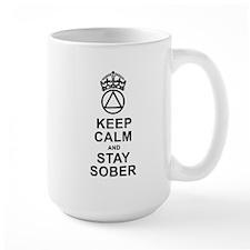 Calm And Sober Large Mugs
