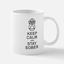 Calm And Sober Small Mugs