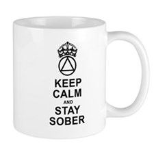 Calm And Sober Small Mugs