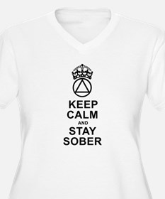 Calm And Sober Plus Size T-Shirt