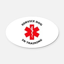 SERVICE DOG IN TRAINING Oval Car Magnet