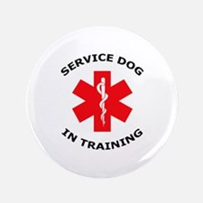 "SERVICE DOG IN TRAINING 3.5"" Button"