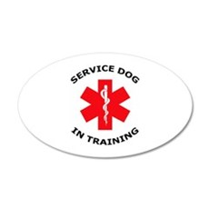 SERVICE DOG IN TRAINING Wall Decal