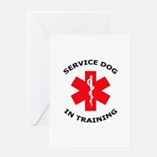 SERVICE DOG IN TRAINING Greeting Cards