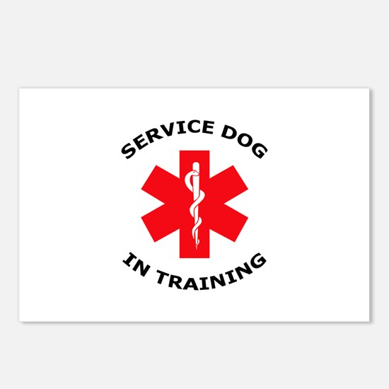 SERVICE DOG IN TRAINING Postcards (Package of 8)