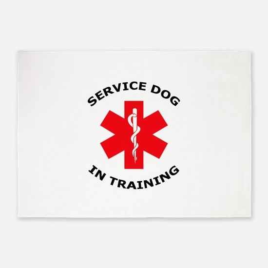 SERVICE DOG IN TRAINING 5'x7'Area Rug