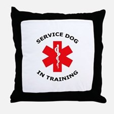 SERVICE DOG IN TRAINING Throw Pillow