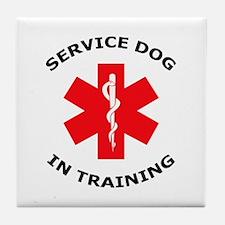 SERVICE DOG IN TRAINING Tile Coaster