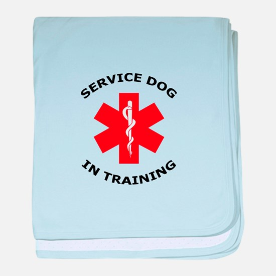SERVICE DOG IN TRAINING baby blanket