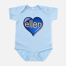 ellen Heart Infant Bodysuit
