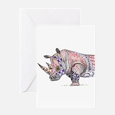 Tangled Rhino Greeting Cards