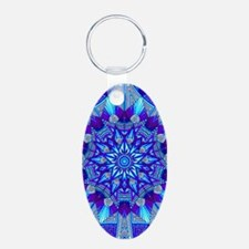 Blue and Purple Patterned Star Keychains