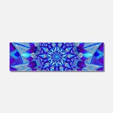Blue and Purple Patterned Star Car Magnet 10 x 3