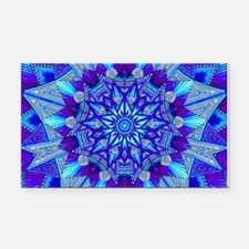 Blue and Purple Patterned Sta Rectangle Car Magnet