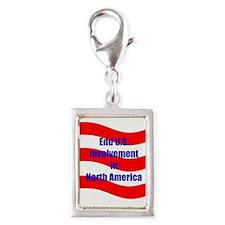 End U.s. Involvement Silver Portrait Charm Charms