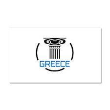GREECE COLUMNS Car Magnet 20 x 12