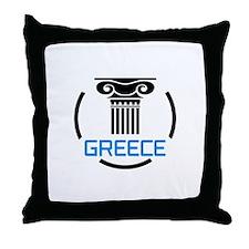 GREECE COLUMNS Throw Pillow