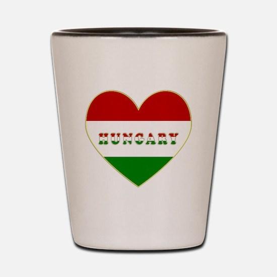 HungaryInMyHeart Shot Glass