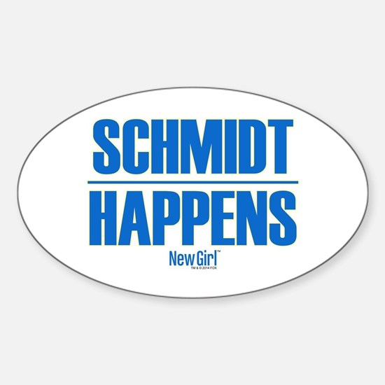 New Girl Schmidt Sticker (Oval)