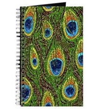 Peacock Feather Print Journal