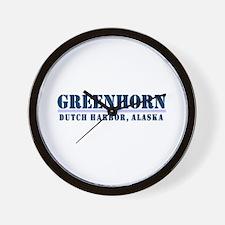 Greenhorn Dutch Harbor Wall Clock