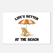 Life's Better At The Beach Postcards (Package of 8