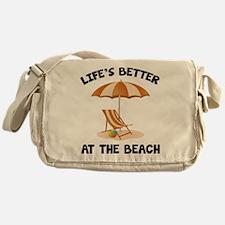 Life's Better At The Beach Messenger Bag