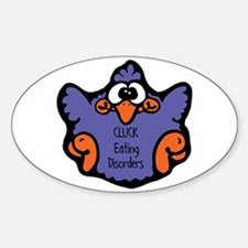 Eating Disorders Oval Bumper Stickers