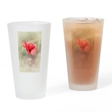 Wild Poppy Flower Drinking Glass