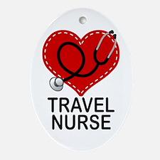 Travel Nurse Ornament (Oval)
