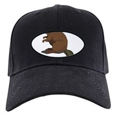 Cute Beaver Sitting Baseball Hat