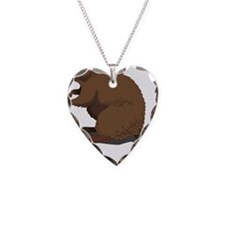 Cute Beaver Sitting Necklace