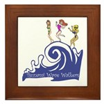 Tsunami Wave Walkers Framed Tile