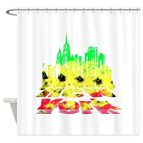 Awesome Nyc Rasta Shower Curtain