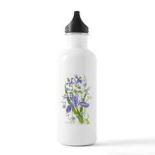 Blue Bouquet Water Bottle