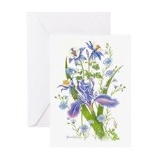 Blue Bouquet Greeting Cards
