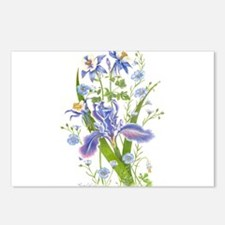 Blue Bouquet Postcards (Package of 8)
