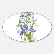 Blue Bouquet Decal
