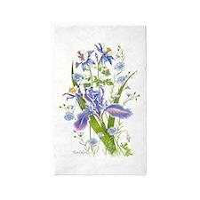 Blue Bouquet Area Rug