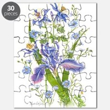 Blue Bouquet Puzzle